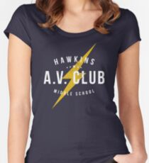 Hawkins A.V. Club (aged look) Women's Fitted Scoop T-Shirt