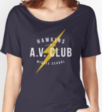 Hawkins A.V. Club (aged look) Women's Relaxed Fit T-Shirt