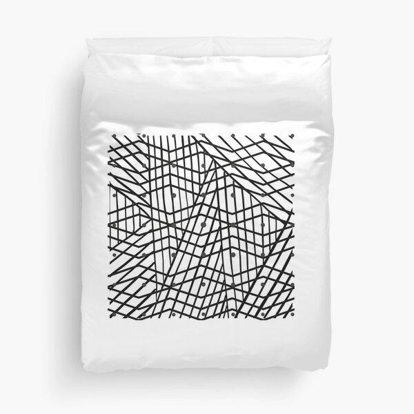 lined pattern Duvet Cover