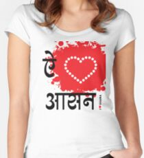 I LUV ASANA Women's Fitted Scoop T-Shirt