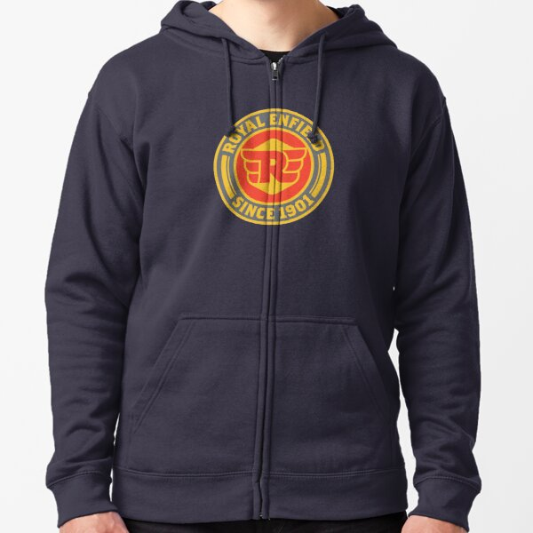 SHENGN Mens Designed Cool with Hood Bag Buell American Motorcycles Logo Zipper Hoodie