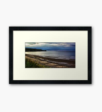 Sunset on the Coast Framed Print