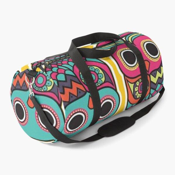 Colourful Owl Duffle Bag