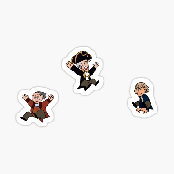 Founding Fathers- Thomas Jefferson, George Washington, and Benjamin Franklin Sticker