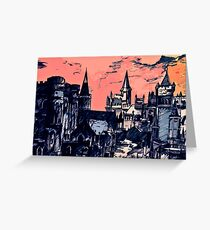 Lothric Castle in a hollow world Greeting Card