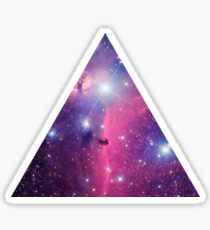 Purple Galaxy Triangle Sticker