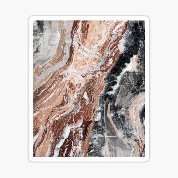Black brown and white marble pattern art - neutral modern minimalist  beautiful stylish natural rock marbled patterns Sticker