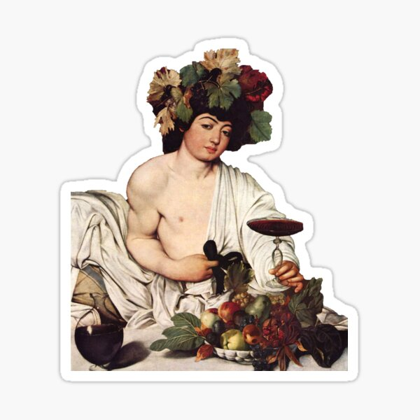 Caravaggio Michelangelo Merisi Bacco Dioniso dionysus Sticker