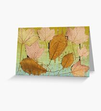 Graceful Leaves   Greeting Card