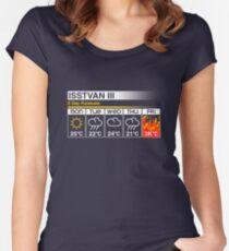 Grimmige Prognose Tailliertes Rundhals-Shirt