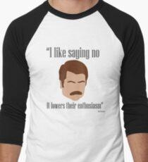 I Like Saying No Men's Baseball ¾ T-Shirt