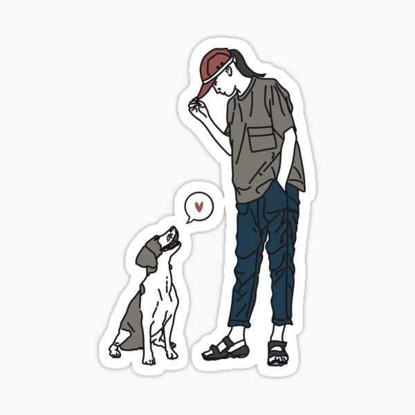 Dog's love Pegatina
