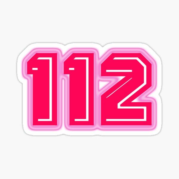 Pink Number 112 Sticker