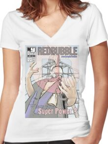 New York Comic Con Poster Contest Women's Fitted V-Neck T-Shirt