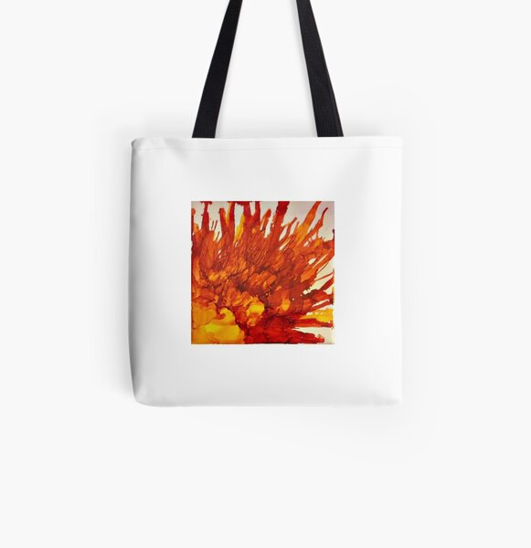 Fire Blossom All Over Print Tote Bag