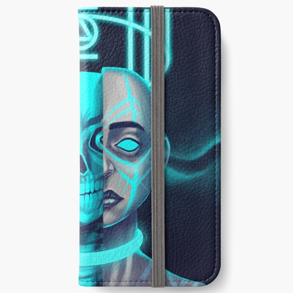 Girl with a skull iPhone Wallet