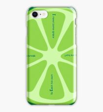 LIME Phrases iPhone Case/Skin