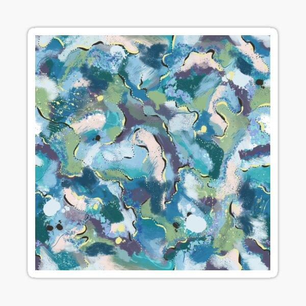Abstract, Ocean Swirls Sticker