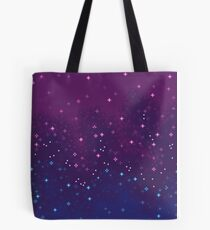 Bi Pride Flag Galaxy (8bit) Tote Bag