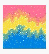 Pan Pride Flag Galaxy (8bit) Photographic Print
