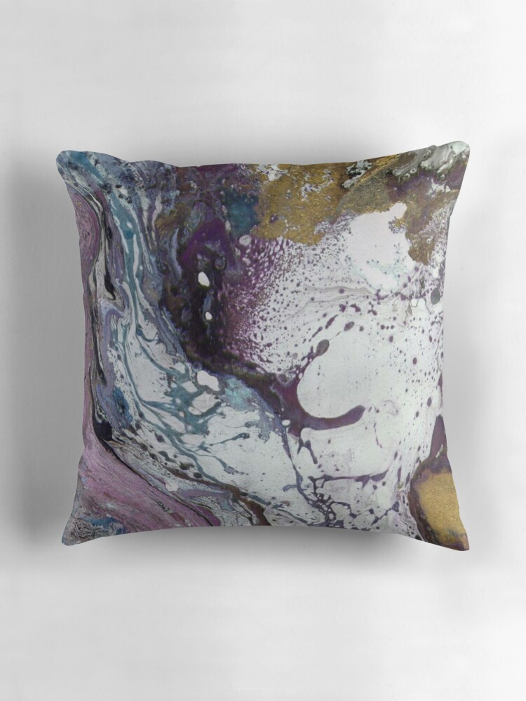 Quot Purple Amp Gold Marble Texture Quot Throw Pillows By T0nksx