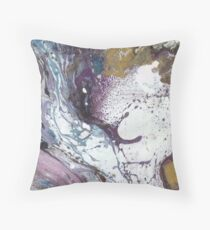 Purple & Gold Marble Texture Throw Pillow