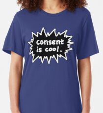 Consent is Cool Comic Flash Black Slim Fit T-Shirt