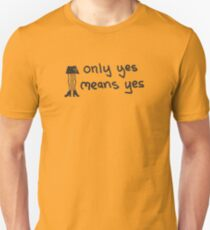 Only Yes Means Yes - Not Skirts (Black) T-Shirt
