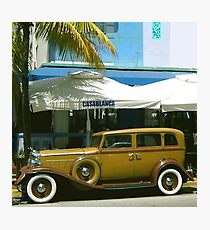SOUTH BEACH TRANSPORTATION Photographic Print