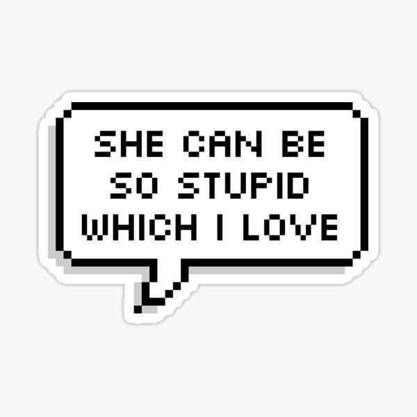 """OWL HOUSE Amity """"Stupid""""  Sticker"""