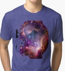 Colorful Galaxy Pattern Tri-blend T-Shirt