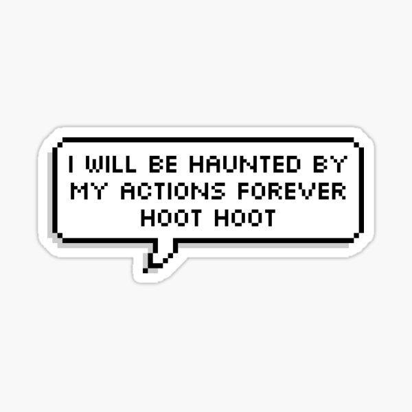 "OWL HOUSE Hooty ""Haunted""  Sticker"