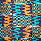 Colours of Africa (10) of a series of African Colours, KENTE by Remo Kurka