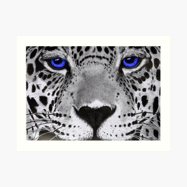 Blue eyes. Art Print