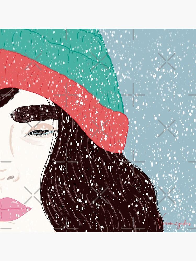 Mujer bajo la nieve de Veronizadass