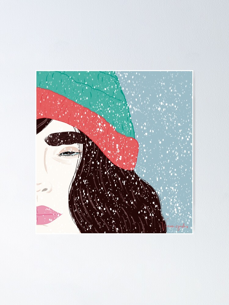Vista alternativa de Póster Mujer bajo la nieve