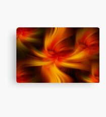 Orange Yellow Colored Abstract  Canvas Print