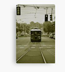Vintage Main St Trolley  Canvas Print