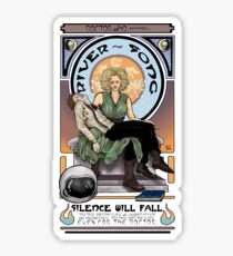 Silence Will Fall: The River's Pietà Sticker