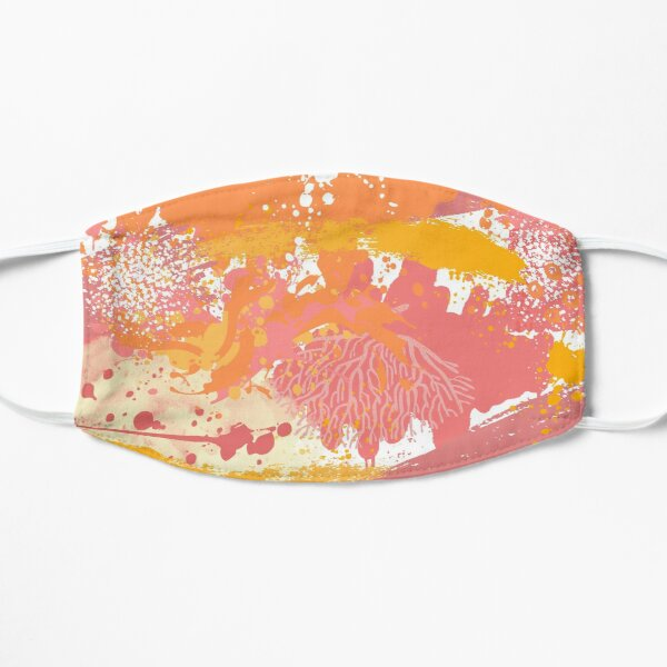 Pink and Orange Psychedelic Flat Mask