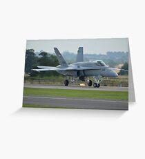 Swiss Air Force F-18 Hornet.... Greeting Card