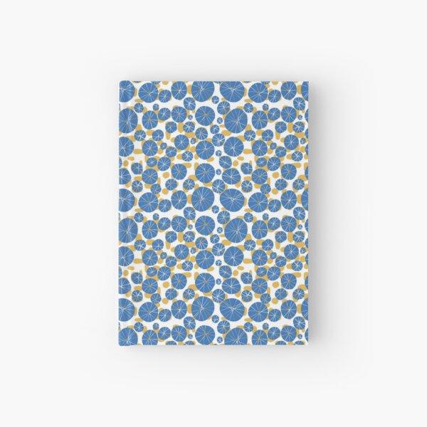 Modern Art Flowers & Blobs - Blue Yellow Hardcover Journal