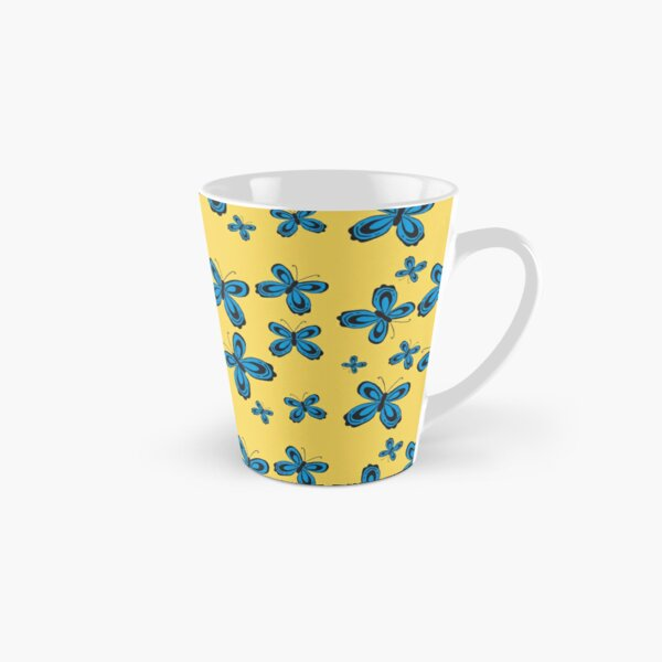 Folkart Butterfly Simple - Yellow and Blue Tall Mug