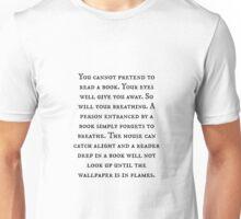 Pretend Reading Quote Unisex T-Shirt