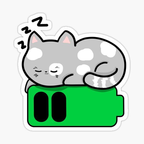 Recharging Cat Sticker