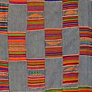 Colours of Africa (12) of a series of African Colours, KENTE of the Ashanti in Ghana by Remo Kurka