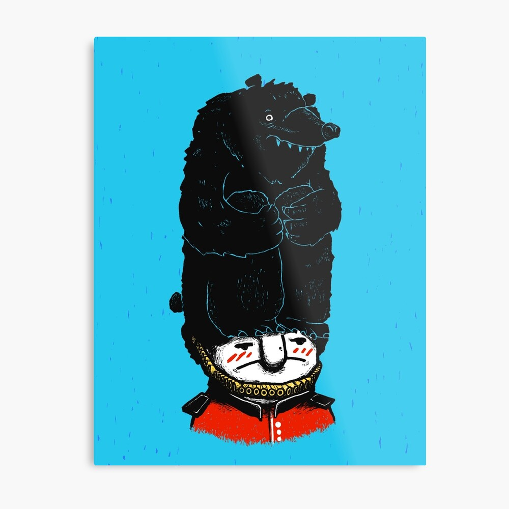 Queens Guard Hates Hat Metal Print