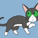Tuxedo Cat Love! by Mel Albino
