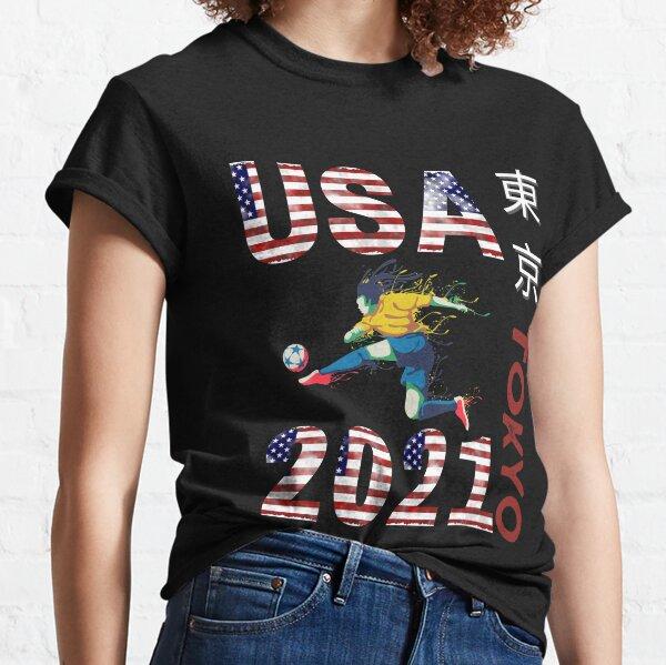 Tokyo Olympics 2021 USA Team Soccer American Flag Classic T-Shirt