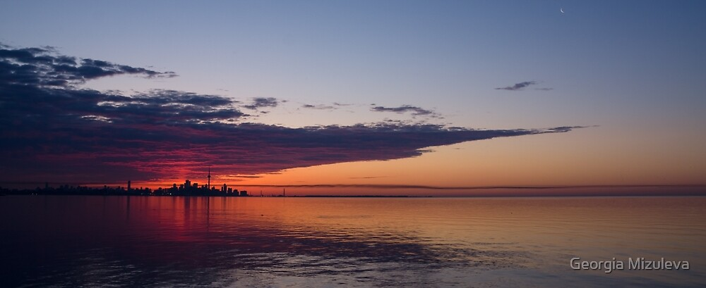 Panorama - Toronto Sunrise in June by Georgia Mizuleva